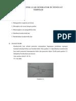 Karakteristik Luar Generator Dc Penguat Terpisah