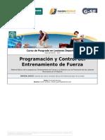 2 Programación y Control Del Entrenamiento de Fuerza