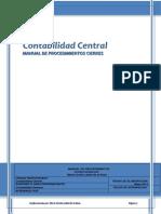 Manual de Procedimientocontabilidad Central