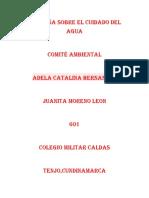 Campaña Sobre El Cuidado Del Agua Juanita Moreno Leon 601