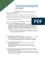 Restituição de Taxa de Fiscalização Da Aviação Civil