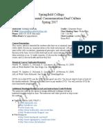 basinski springfield college syllabus 2017