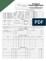 D&D Character Sheet