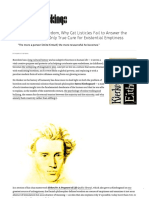 Kierkegaard on Boredom, Why Cat Listicles Fail to Answer the Soul's Cry, And the Only True Cure for Existential Emptiness – Brain Pickings