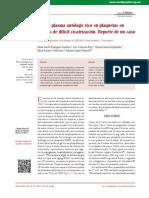 2014 Uso de plasma autólogo rico en plaquetas en ulceras de dificil cicatrizacion re´prte de caso.pdf
