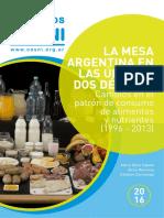 La Mesa Argentina en Las Ultimas Dos Decadas