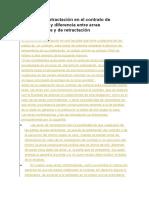 Derecho de Retractación en El Contrato de Compraventa y Diferencia Entre Arras Confirmatorias y de Retractación