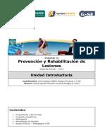 8 Unidad Introductoria Del Curso de Posgrado de Prevención y Rehabilitación de Lesiones 2013