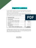 Finiquito Laboral Ejemplo
