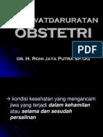 Kegawatdaruratan Obstetri Ppt
