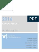 2016 Kalamazoo Medical Examiner's Annual Report