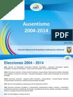 Ausentismo 2004-2014-2 Votacion, Nacion Argentina