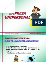 4 Empresa Unipersonal - EIRL - Proyecto Ley Marco