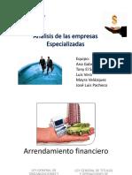 Análisis de Las Empresas Especializadas FINAL