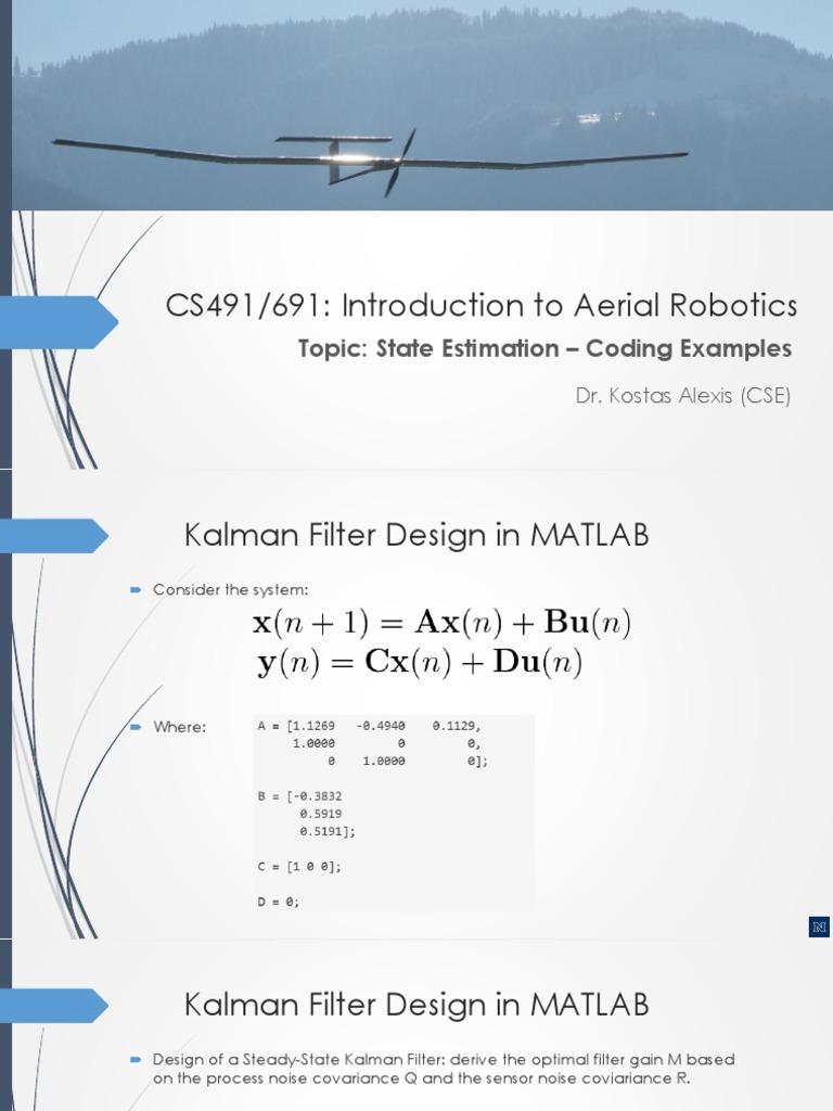 07_kalmanexamples | Kalman Filter | Signal Processing