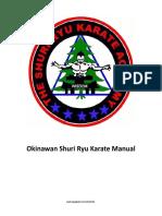 Shuri Karate Manual