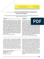 Psychometric properties of the Brief Sensation Seeking Scale in peruvian teenagers