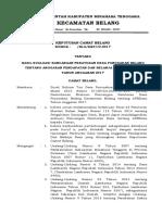 SK Camat Evaluasi APBDes