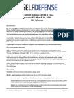 Law of Self Defense LEVEL 1 CLE NY Syllabus 180310 v170720 PDF