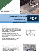 CIMENTACIONES SUPERFICIALES Y COMBINADAS