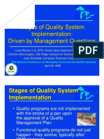 Stages of quality