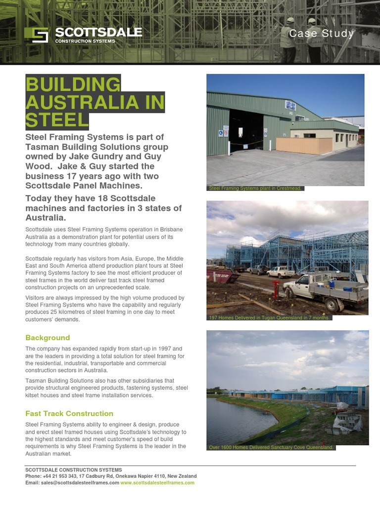 Steel Framing Systems Brisbane Case Study | Framing (Construction ...