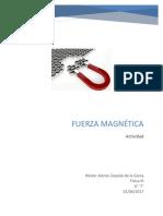 Ejercicio magnetico