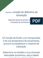 Determinação Do Diâmetro Da Tubulação