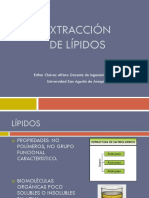 Extracción de Lípidos