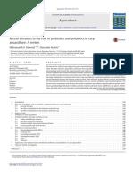 Aquaculture Volume 454 Issue 2016 [Doi 10.1016%2Fj.aquaculture.2015.12.033] Dawood, Mahmoud a.O.; Koshio, Shunsuke -- Recent Advances in the Role of Probiotics and Prebiotics in Carp Aquaculture- A Re
