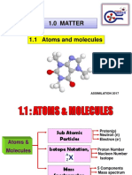 1.1 Atoms and Molecules - Assimilation Week(1)