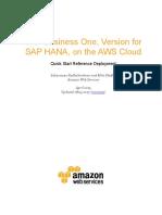 SAP Business One for HANA on the AWS Cloud