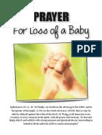 Prayers Loss of Baby