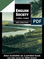 English Society 1580-1680