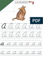 Alphabet Tracers a Cursive
