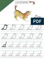 Alphabet Tracers d Cursive