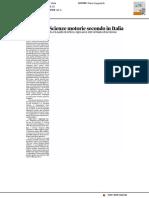 Gemona, il corso di Scienze Motorie secondo in Italia - Il Messaggero Veneto del 21 luglio 2017
