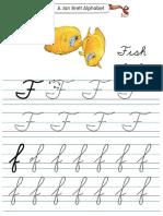 Alphabet Tracers f Cursive
