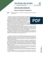 Decreto Ley 1-2016 Medidas Contra Excluión Social Extremadura