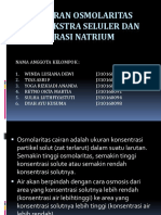 Pengaturan Osmolaritas Cairan Ekstra Seluler Dan Konsentrasi Natrium