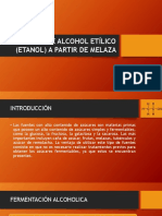 Alcohol Etilico a Partir de Melaza