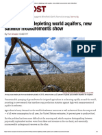 Agriculture is Depleting World Aquifers, New Satellite Measurements Show