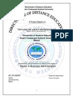 Dynamics of Agency Recruitment Project Bharti AXA Insurance1