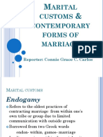 Report on Marital Customs & Contemporary Forms of Marriage