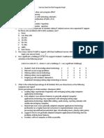 Survey Form for the Program Head
