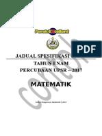 Jsu Matematik Percubaan Upsr 2017