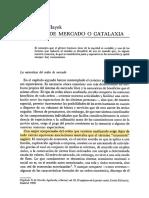 El Orden del Mercado o Catalaxia