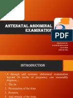 Antenatal Abdominal Examination