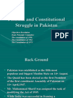 Political and Constitutional Struggle in Pakistan