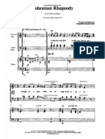 Bohemian Rhapsody (Abridged Version) [15-Piece Orchestration] - Piano-Vocal Score (SATB)